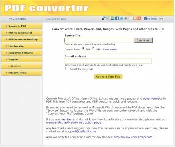 Convierte otros formatso en pdf
