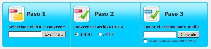 Pasos para convertir PDF en word online
