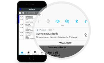 Aplicacion Praxedo - Agenda
