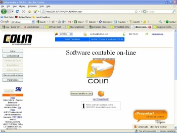 software contable colin pantalla inicial