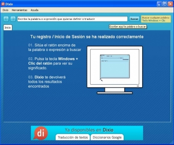 SesinIn abierta con Dixio Desktop